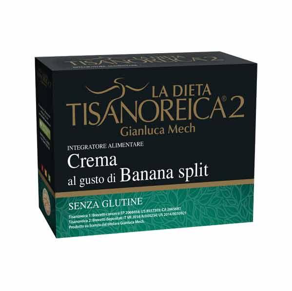 TISANOREICA 2 - CREMA AL GUSTO DI BANANA SPLIT - 4 BUSTE DA 28 G