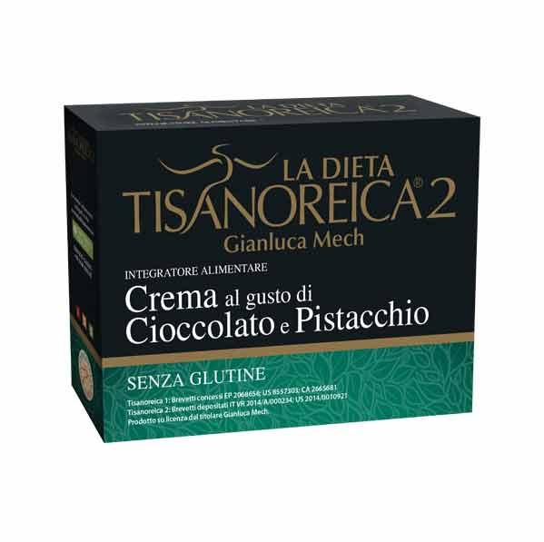 TISANOREICA 2 - CREMA AL GUSTO DI CIOCCOLATO E PISTACCHIO - 4 BUSTE DA 30 G
