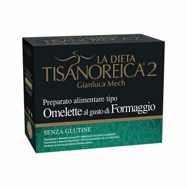 TISANOREICA 2 - OMELETTE AL GUSTO DI FORMAGGIO - 4 BUSTE DA 27,5 G