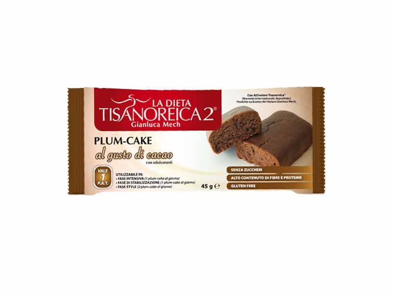 TISANOREICA 2 PLUM CAKE - GUSTO CACAO - 45 G