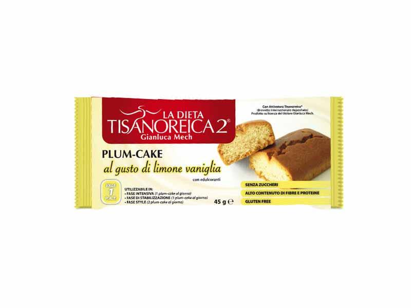 TISANOREICA 2 PLUM CAKE - GUSTO LIMONE E VANIGLIA - 45 G