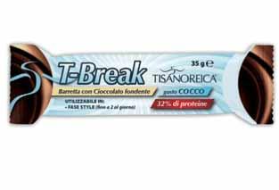 TISANOREICA T-BREAK BARRETTA CON CIOCCOLATO FONDENTE GUSTO COCCO - 35 G