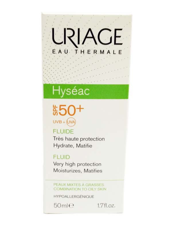 URIAGE HYSEAC SOLAIRE FLUIDO SPF 50+ 50 ML