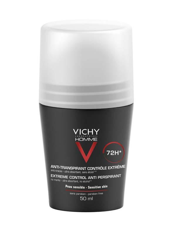 VICHY HOMME DEODORANTE ROLL ON ANTITRASPIRANTE 72h 50 ML