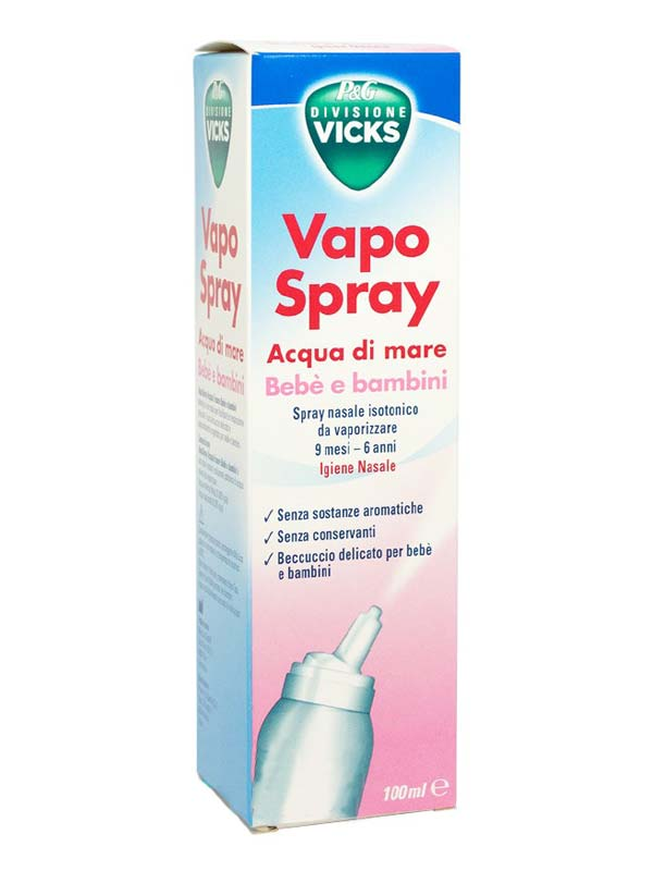 VICKS VAPO SPRAY ACQUA DI MARE BEBE E BAMBINI 100 ML