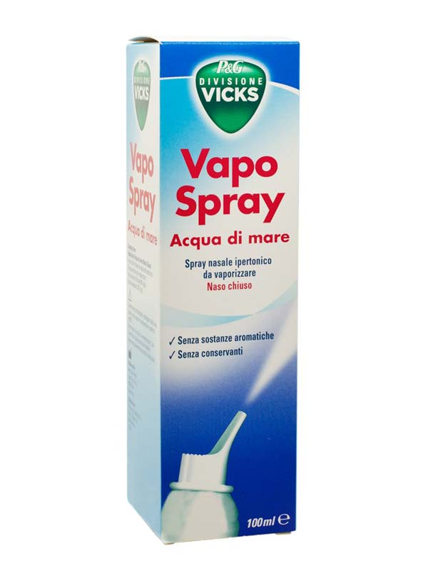 VICKS VAPO SPRAY ACQUA DI MARE SPRAY IPERTONICO 100 ML