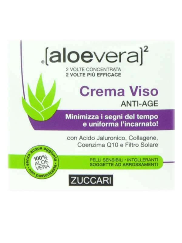 ZUCCARI ALOEVERA2 CREMA VISO ANTI AGE - 50 ML