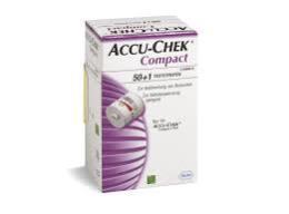 ACCU CHEK COMPACT PLUS MISURAZIONE DELLA GLICEMIA - 51 STRISCE