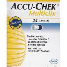 ACCU CHEK MULTICLIX LANCETTE - 24 LANCETTE