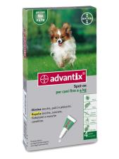 ADVANTIX SPOT ON PER CANI FINO A 4 KG 4 PIPETTE DA 0,4 ML