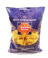 ANTONIO AMATO PASTA DI SEMOLA DI GRANO DURO - MEZZE MANICHE RIGATE N. 91 - 500 G