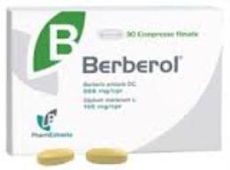 BERBEROL INTEGRATORE ALIMENTARE A BASE DI BERBERINA - 30 COMPRESSE