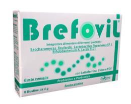 BREFOVIL INTEGRATORE ALIMENTARE A BASE DI PROBIOTICI UTILE IN CASO DI ALTERAZIONE DELLA FLORA INTESTINALE - 8 BUSTINE