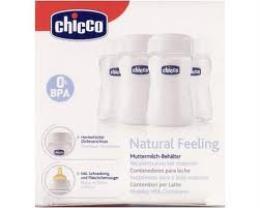 CHICCO CONTENITORI PER LATTE MATERNO 4 PZ DA 150 ml CON TETTARELLA