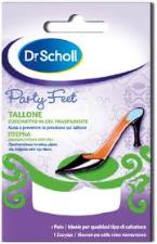 DR SCHOLL PARTY FEET TALLONE CUSCINETTO IN GEL TRASPARENTE - 1 PAIO