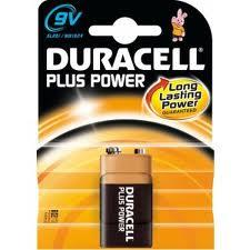 DURACELL PLUS POWER TRANSISTOR 9V - MN1604 - 1 PEZZO
