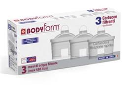 FILTRO CARAFFA filtrante BODYFORM conf da 3 cartucce