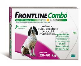 FRONTLINE COMBO® SPOT ON CANI 20-40 KG 3 PIPETTE DA 2,68 ML