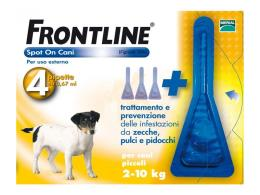 FRONTLINE SPOT ON CANI PICCOLI 2-10 KG 4 PIPETTE DA 0,67 ML