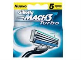 GILLETTE LAMETTE MACH3 TURBO 5 RICARICHE