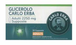 GLICEROLO CARLO ERBA SUPPOSTE PER ADULTI 18 SUPPOSTE DA 2250 MG