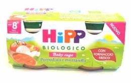 HIPP BABY SUGO POMODORO E MOZZARELLA OMOGENEIZZATO - DALL'OTTAVO MESE - 2 x 80 G