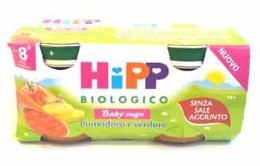HIPP BABY SUGO POMODORO E VERDURE OMOGENEIZZATO - DALL'OTTAVO MESE - 2 x 80 G