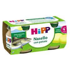 HIPP OMOGENEIZZATO NASELLO CON PATATE DAL QUARTO MESE 2 x 80 G