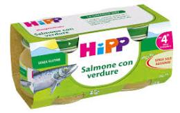 HIPP OMOGENEIZZATO SALMONE CON VERDURE - DAL QUARTO MESE - 2 x 80 G