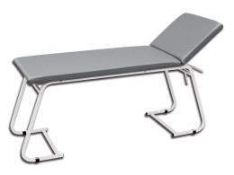 LETTINO VISITA MEDICA - acciaio verniciato bianco - grigio