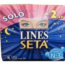 LINES SETA ULTRA NOTTE CON ALI - 8 ASSORBENTI