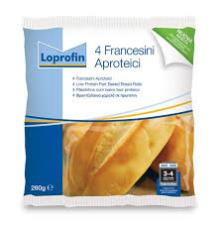 LOPROFIN FRANCESINI PANE A BASSO CONTENUTO PROTEICO - 4 x 65 G