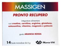 MASSIGEN PRONTO RECUPERO GUSTO ARANCIA ROSSA 14 BUSTE DA 6 G