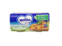 MELLIN® OMOGENEIZZATO FRUTTA MISTA DAL QUARTO MESE COMPIUTO 2 x 100 G