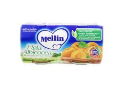 MELLIN® OMOGENEIZZATO MELA E ALBICOCCA DAL QUARTO MESE COMPIUTO 2 x 100 G