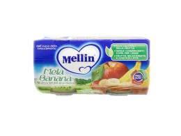 MELLIN® OMOGENEIZZATO MELA E BANANA DAL QUARTO MESE COMPIUTO 2 x 100 G