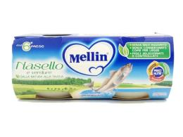MELLIN OMOGENEIZZATO NASELLO E VERDURE DAL SESTO MESE 2 x 80 G