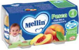 MELLIN® OMOGENEIZZATO PESCA CON MELA DAL QUARTO MESE 2 x 100 G
