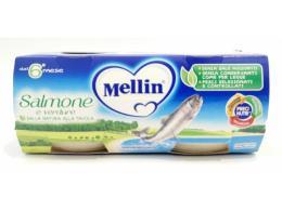 MELLIN OMOGENEIZZATO SALMONE E VERDURE DAL SESTO MESE 2 x 80 G