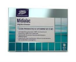 MIDIALAC INTEGRATORE ALIMENTARE CON PROBIOTICI E VITAMINE B1 E B2 - 10 BUSTINE