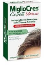 MIGLIOCRES CAPELLI UOMO - INTEGRATORE ALIMENTARE DI ZINCO E SELENIO - 60 CAPSULE
