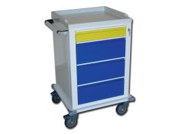 MODULAR TROLLEY - painted steel - 1+3 drawers