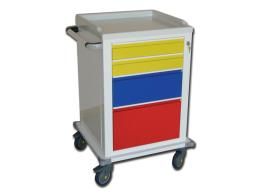 MODULAR TROLLEY - painted steel - 2+1+1 drawers