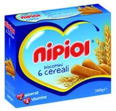 NIPIOL BISCOTTINI 6 CEREALI - 360 G