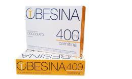OBESINA 400 MG CARNITINA - PREPARATO AL GUSTO DI CIOCCOLATO - 4 BUSTE DA 28 G