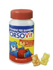 ORSOVIT VITAMINE PER BAMBINI INTEGRATORE MULTIVITAMINICO GUSTO FRUTTA - 60 CARAMELLE GOMMOSE