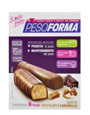 PESOFORMA BARRETTA AL CIOCCOLATO E CARAMELLO 12 BARRETTE