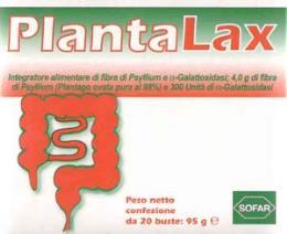 PLANTALAX INTEGRATORE ALIMENTARE CONTRO GAS INTESTINALE GUSTO PESCA E LIMONE - 20 BUSTE