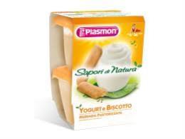 PLASMON MERENDA SAPORI DI NATURA YOGURT E BISCOTTO - DA 6 A 36 MESI - 2 x 120 G