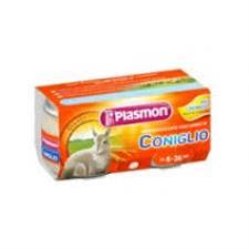 PLASMON OMOGENEIZZATO CONIGLIO - DA 4 A 36 MESI - 2 x 80 G